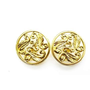 Picture of YSL Vintage Large Gold Tone Clip On Earrings