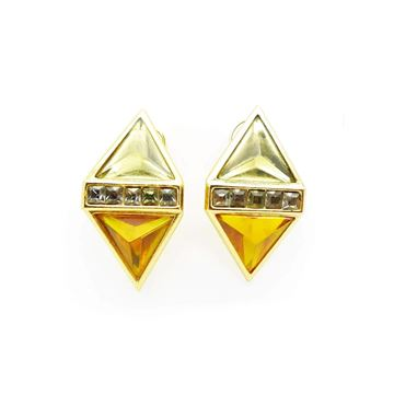 Picture of YSL Vintage Diamond Shape Clip On Earrings