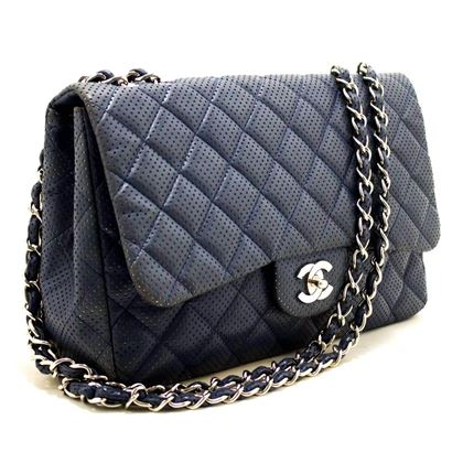 Chanel Quilted Flap Navy Leather Chain Shoulder Bag