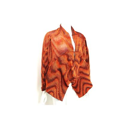 issey-miyake-orange-velvet-plasma-wave-pleated-bolero-jacket