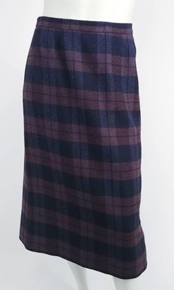 hermes-purple-and-navy-plaid-coat-and-skirt-set