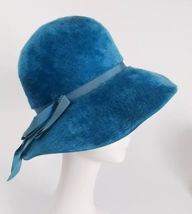 1960s-cerulean-blue-felt-wide-brim-floppy-hat