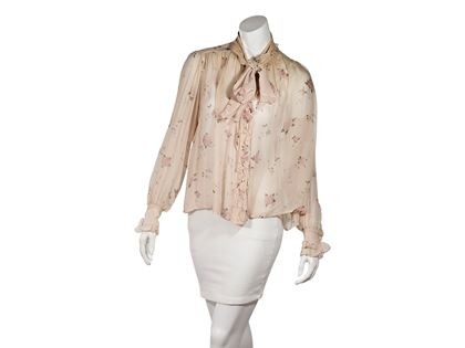 pink-vintage-chanel-ruffle-floral-blouse-s-pink