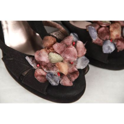 bottega-veneta-black-suede-wedges-sandals-w-flower-applique-size-365