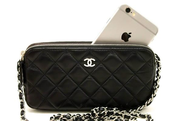 chanel-wallet-on-chain-woc-double-zip-chain-black-shoulder-bag