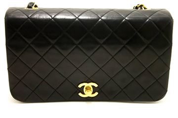 Chanel Black Quilted Flap Lambskin Crossbody Shoulder Bag