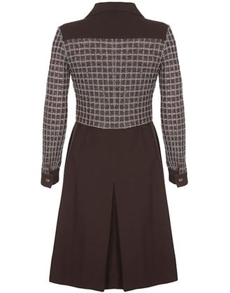 pisanti-1970s-chocolate-brown-dress-with-wide-lapel-detail-and-lame-bodice