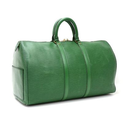 vintage-louis-vuitton-keepall-45-green-epi-leather-duffle-travel-bag-4