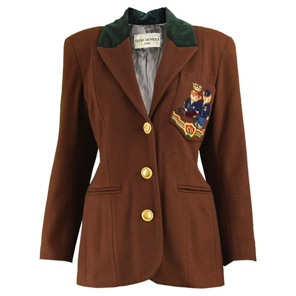 Cristina Santandrea Embroidered Bear Vintage Blazer