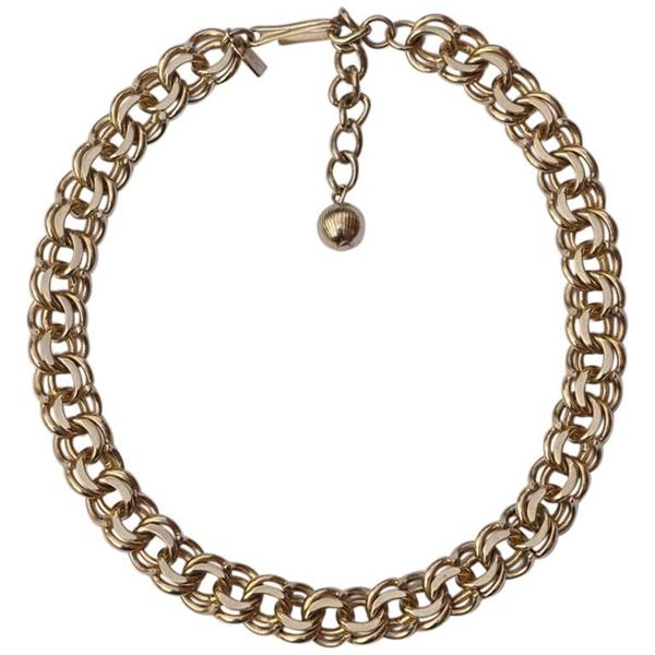 Reinad 1940s 5th Av NY Gold Tone Link Necklace