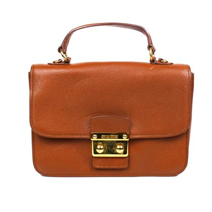 Miu Miu Large Cognac Brown  Shoulder Bag