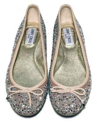 jimmy-choo-nude-and-gold-crystal-studded-ballet-flats-size-37