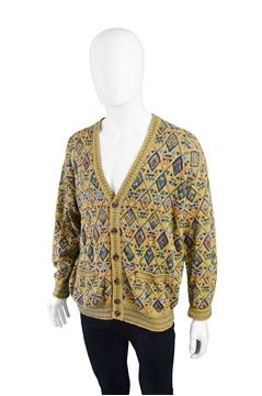 Missoni 1980s Cotton & Linen Vintage Cardigan