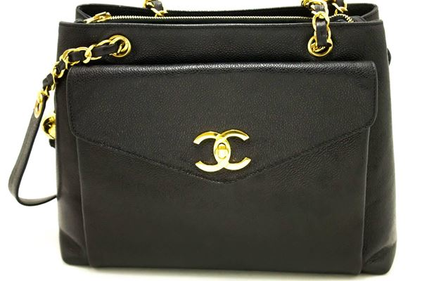 chanel-caviar-large-chain-shoulder-bag-black-leather-gold-hardware-4