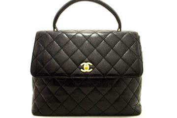 Chanel Black Quilted Caviar Kelly Bag