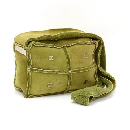 chanel-green-mutton-leather-shoulder-bag