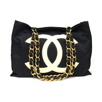 chanel-jumbo-xl-black-nylon-shoulder-shopping-tote-bag