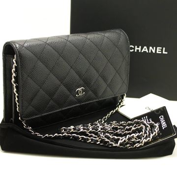 Chanel Caviar Wallet On Chain WOC Black Shoulder Bag