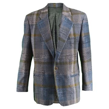 Umberto Ginocchietti Men's Checked Tweed Vintage Blazer