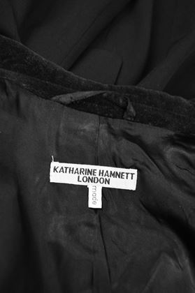 Katharine Hamnett 1990s Men's Black Wool Vintage Frock Coat