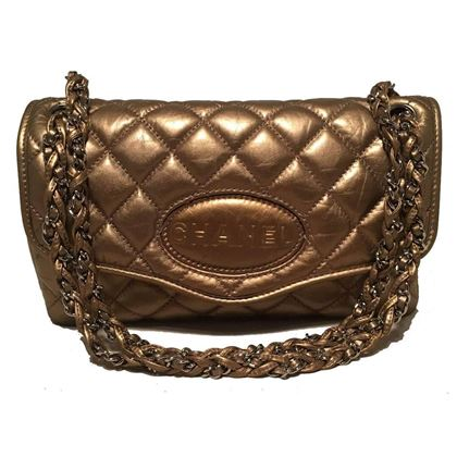 chanel-quilted-bonze-leather-classic-flap-shoulder-bag