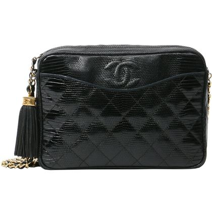 chanel-lizard-cc-mark-stitch-fringe-chain-bag-black-7