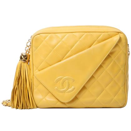 chanel-cc-mark-stitch-fringe-chain-bag-yellow-4