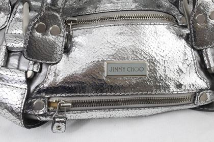 jimmy-choo-silver-leather-handbag