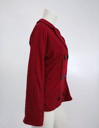 1950s-irene-cashmere-red-black-gingham-jacket