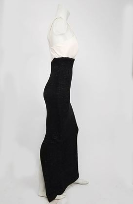 1990s-gianfranco-ferre-black-white-evening-dress