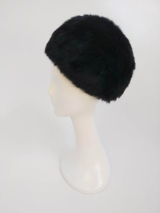 1960s-black-rabbit-fur-hat