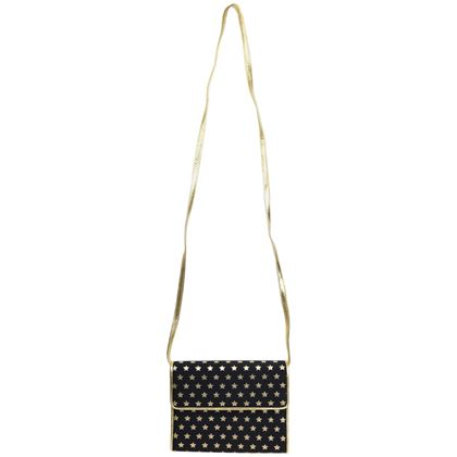 escada-dark-navy-with-gold-metallic-stars-shoulder-bag