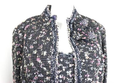 chanel-black-with-multi-colours-tweed-jacket-and-sleeveless-top