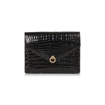 fendi-vintage-black-crocodile-leather-clutch-handbag-flap-purse