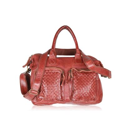 cowboysbag-brown-leather-the-bag-satchel-with-woven-pockets