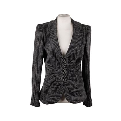 armani-collezioni-gray-textured-wool-blend-blazer-jacket-with-draping-size-44