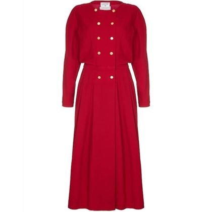 chanel-1980s-red-wool-dress
