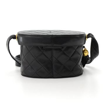 chanel-black-quilted-leather-vanity-cosmetic-shoulder-bag-with-fringe