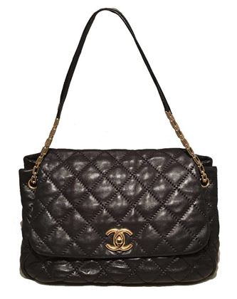 chanel-quilted-black-distressed-leather-large-classic-flap-shoulder-bag