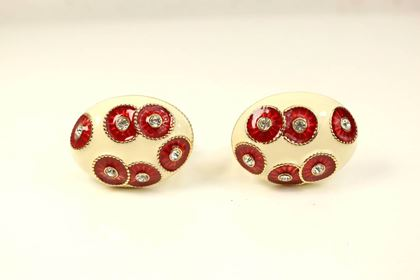 nina-ricci-gold-toned-ivory-oval-red-crystal-rhinestones-clip-on-earrings