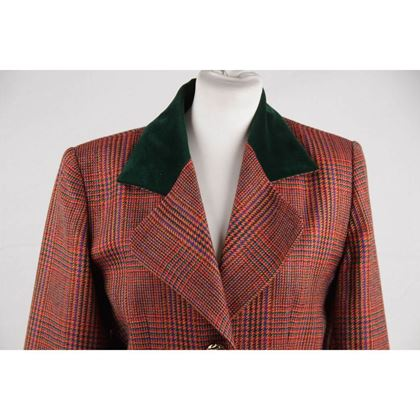 givenchy-couture-vintage-multicolor-glen-plaid-wool-suit-blazer-and-skirt-set