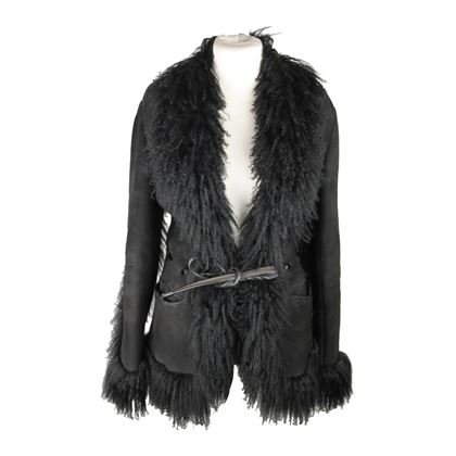 gucci-black-suede-shearling-jacket-zip-front-size-38