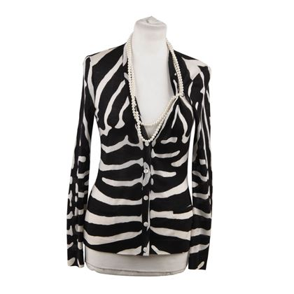 christian-dior-wool-and-silk-zebra-cardigan-with-faux-pearl-necklace-size-38