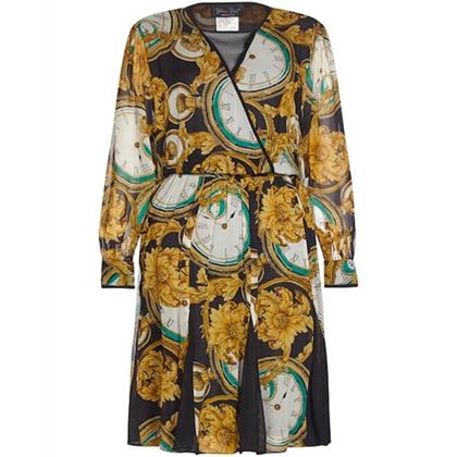 diane-freis-1980s-silk-chiffon-novelty-print-clocks-dress-uk-size-10-12