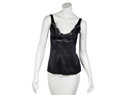 black-dolce-gabbana-lace-trimmed-camisole-s-black