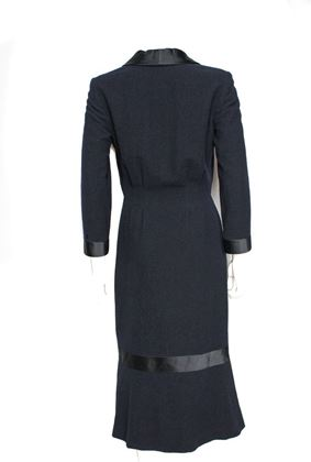 chanel-dress-new-4-36-07a-long-navy-black-wool-silk-dress-bow-tie-2007-2