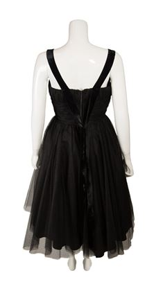 1950s-black-tulle-vintage-cocktail-dress