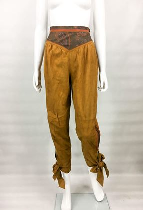 roberto-cavalli-tan-suede-cropped-trousers-1980s