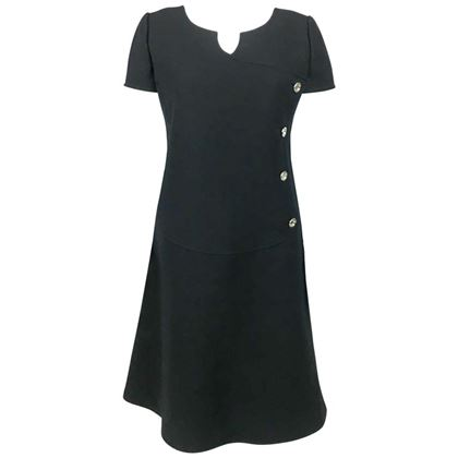 courreges-black-wool-mod-dress-1960s
