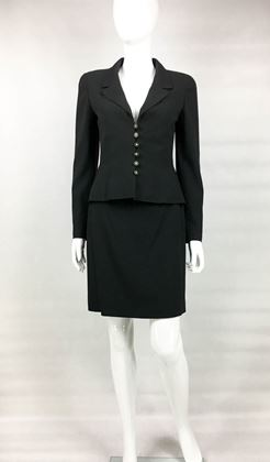 chanel-black-wool-skirt-suit-1997